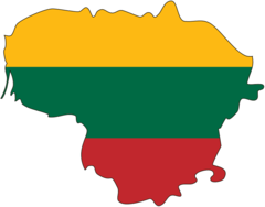 Flag Map of Lithuania