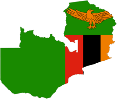 Flag Map of Zambia