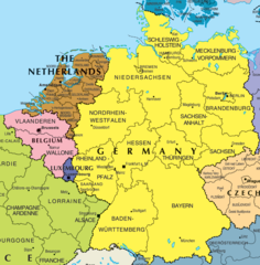 Germany And Belgium Map