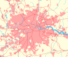 Greater London Outline Map