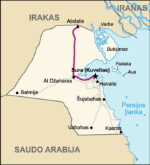Highway of Death  Map of Kuwait (lithuanian)