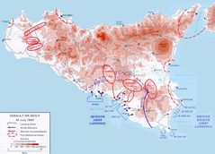 Historical Invasion Map of Sicily