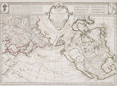 Historical Map Arctic Regions And Pacific Ocean