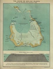 Historical Map Cocos Island (1889)