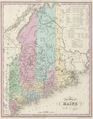 Historical Map Maine