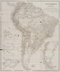 Historical Map South America