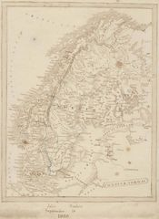 Historical Map Sweden And Norway