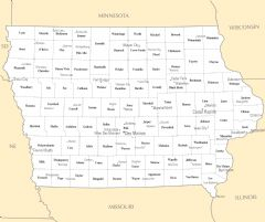 Iowa Cities And Towns