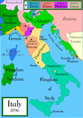 Italy 1796 Historical Maps