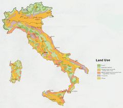 Italy Land Use Map 1972