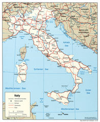 Italy Political Map 2004