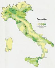 Italy Population Map 1972