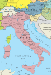 Italy And Austria Map