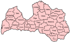 Latvia Districts Named