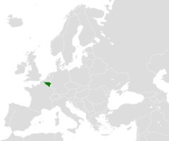 Location Map For Wallonia In Europe