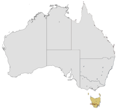 Location Map of Hobart