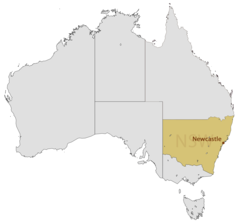 Location Map of Newcastle