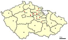 Location of Dowry Towns In the Czech Republic