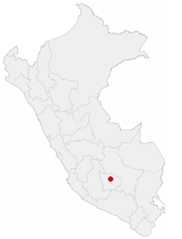 Location of the City of Abancay In Peru