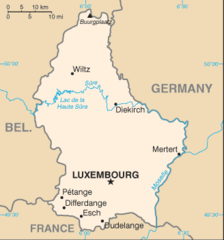 Luxembourg Cia Wfb Map
