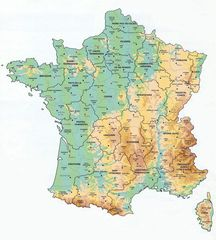 Map France Departments