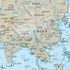 Map of China (physical)
