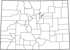 Map of Colorado Counties, Blank