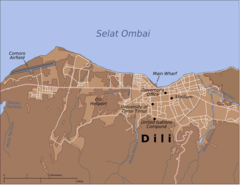 Map of Dili City Center