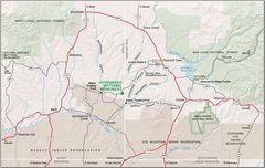 Map of Hovenweep Nm
