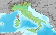 Map of Italy (w O  Labels)