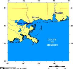 Map of Mississippi Coast