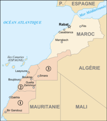 Map of Morocco And Western Sahara Fr