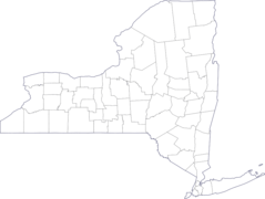 Map of New York County Outlines