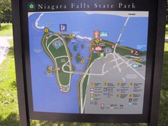 Map of the Us Side of the Niagara Falls