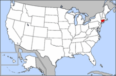 Map of Usa Highlighting Connecticut