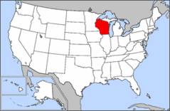 Map of Usa Highlighting Wisconsin