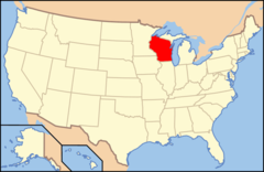 Map of Usa Wi