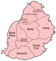 Mauritius Districts Named
