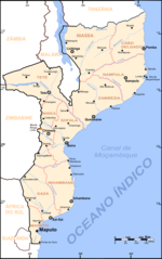 Mozambique Map Cities