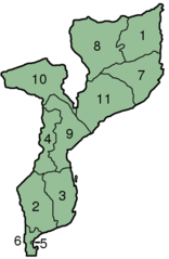 Mozambique Provinces Numbered 300px