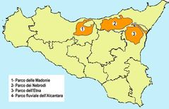 Natural Park Map of Sicily