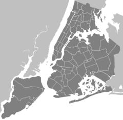 Neighbourhoods New York City Map