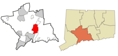 New Haven County Connecticut Incorporated And Unincorporated Areas North Haven Highlighted