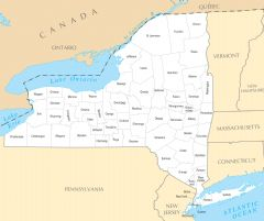 New York County Map