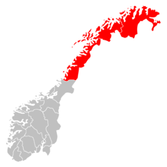 Norway Regions Nord Norge Position