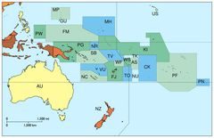 Oceania Without Asian Country Codes