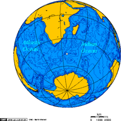 Orthographic Projection Centered On the Prince Edward Island