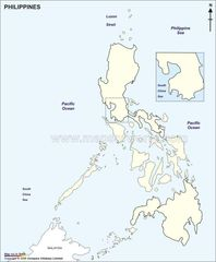 Phillippines Outline Map