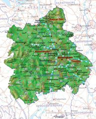 Physical Map of West Midlands