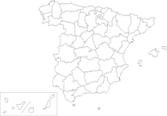 Provinces of Spain (blank Map)
